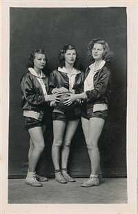 untitled [three female basketball players] by mike disfarmer